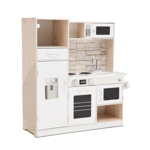 Natural Wooden Kitchen Playset