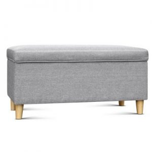 Light Grey Kids Storage Ottoman